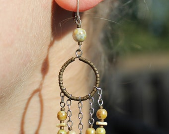 Dangling earrings, long dangle earrings, cheap dangle earrings, beaded dangle earrings,  dangle earring, Dangle earrings FREE SHIPPING!