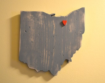 Ohio Wall Art with Heart