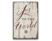 Joy to the world handmade wooden sign Christmas signs Christmas decor Joy to the world sign Holiday decor Holiday signs