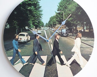 Abbey Road - The Beatles -  12″ LP Vinyl Record Wall Clock