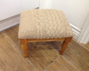 Cabled footstool