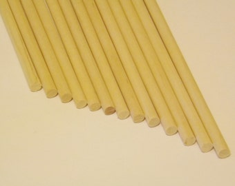 "36 ct 1/4"" x 12"" Birch Wood Dowel Rods for Wood Crafts"