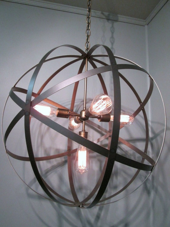 Modern Orb Ceiling Light 24 Inch Sphere Wine by ...