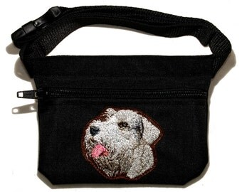 Embroided dog treat waist bag. Breed - Sealyham Terrier. For dog shows and training. Great gift for breed lovers.