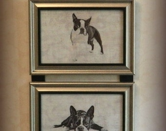 Boston Terrier Dog Picture Collage Wall Hanging