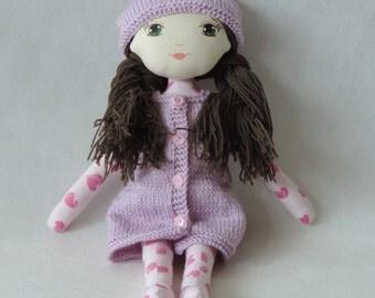 Pink Dollisia – cloth doll