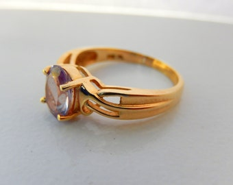 Handmade Gold Amethyst Ring