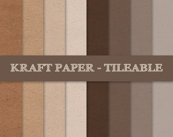 Kraft Digital Paper ~ Brown Kraft Paper Tileable ~ Brown Kraft Paper Seamless Pattern ~ Cardboard Paper Texture Background; INSTANT DOWNLOAD