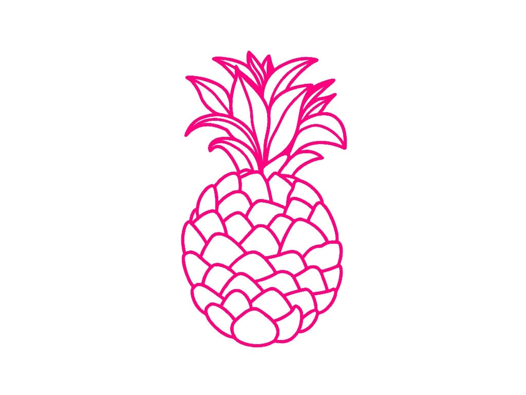pineapple custom die cut vinyl decal sticker choose your