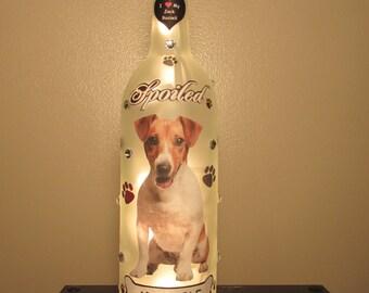Jack Russell Terrier Lighted Wine Bottle Night Light