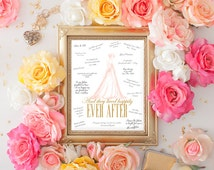 Printable Bridal Shower Guest Signature Print | Wedding Shower Guest Book Alternative | Well Wishes for the Bride to Be | 5 Options Included