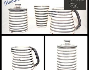Handmade Morocco ceramic milk jug