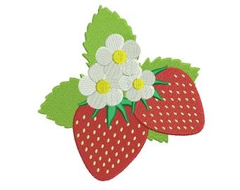 Strawberries Filled Machine Embroidery Digitized Design Pattern - 4x4, 5x7, 6x10