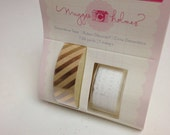 Maggie Holmes Crate Paper Gold Stripe Washi Tape Lace Washi