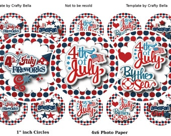 4th Of July Bottlecap Images