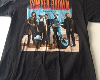 1992 Sawyer Brown DIRT ROAD Tour T-Shirt
