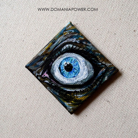 All Seeing Eye trippy art cool stuff Mini canvas Original