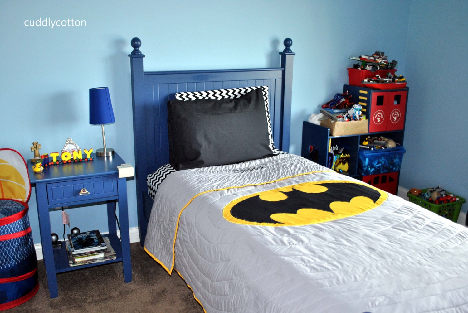 Batman Twin bedding Sets Personalised Twin Quilts by cuddlycotton