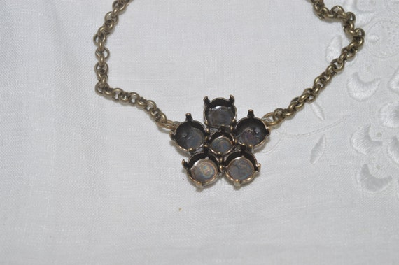8652e7d8e Sale ~ Antique Brass Plated 6-Stone Daisy ss29 & ss39 Necklace Jewelry  Setting for Swarovski Crystal Elements