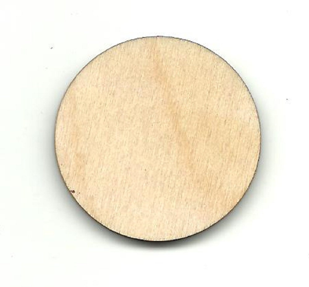 Circle laser cut out unfinished wood shape craft supply for Wood circles for crafts