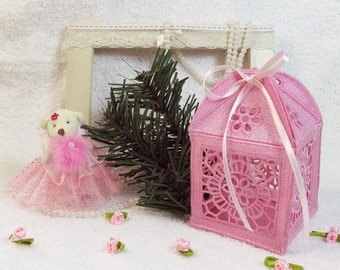 3D FSL Gift Box 1 Free Standing Lace flower Machine Embroidery Designs Instant Download 4x4 hoop APE8021