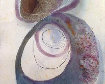 Original Watercolor Painting / Modern Art - Abstract Painting / Contemporary Art / Minimal