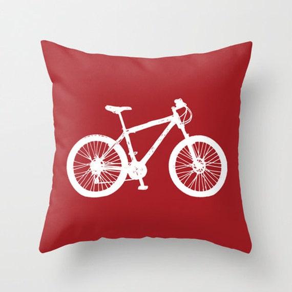 v lo housse housse de coussin v lo rouge graphique coussin. Black Bedroom Furniture Sets. Home Design Ideas