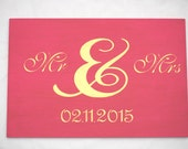 Mr and Mrs Wedding Sign, Wedding Signage, Custom Wedding Sign, Wedding Decor, Wedding Memento