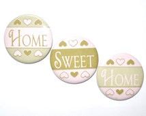 Home Sweet Home magnet set Motivational refrigerator magnet home decor cheap gift cheap prize goodie bag secret sister 2 1/4 inch magnet