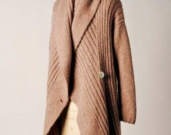 Knitting Pattern PDF - Shawl Collar Wrap Coat