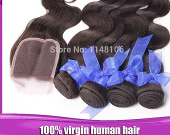 Brazilian virgin hair with closure