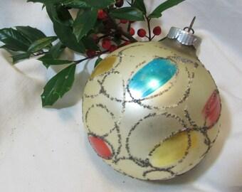 CHRISTMAS ALERT! Vintage Glass Christmas Ornament, 1950's