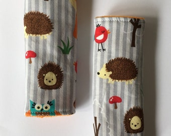 Woodland Reversible Car Seat Strap Covers
