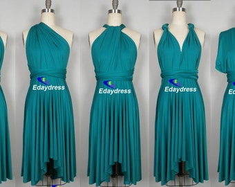 Teal bridesmaid dress – Etsy