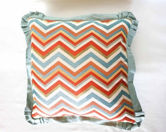 "18""x18"" Chevron Decorative Pillow Teal"