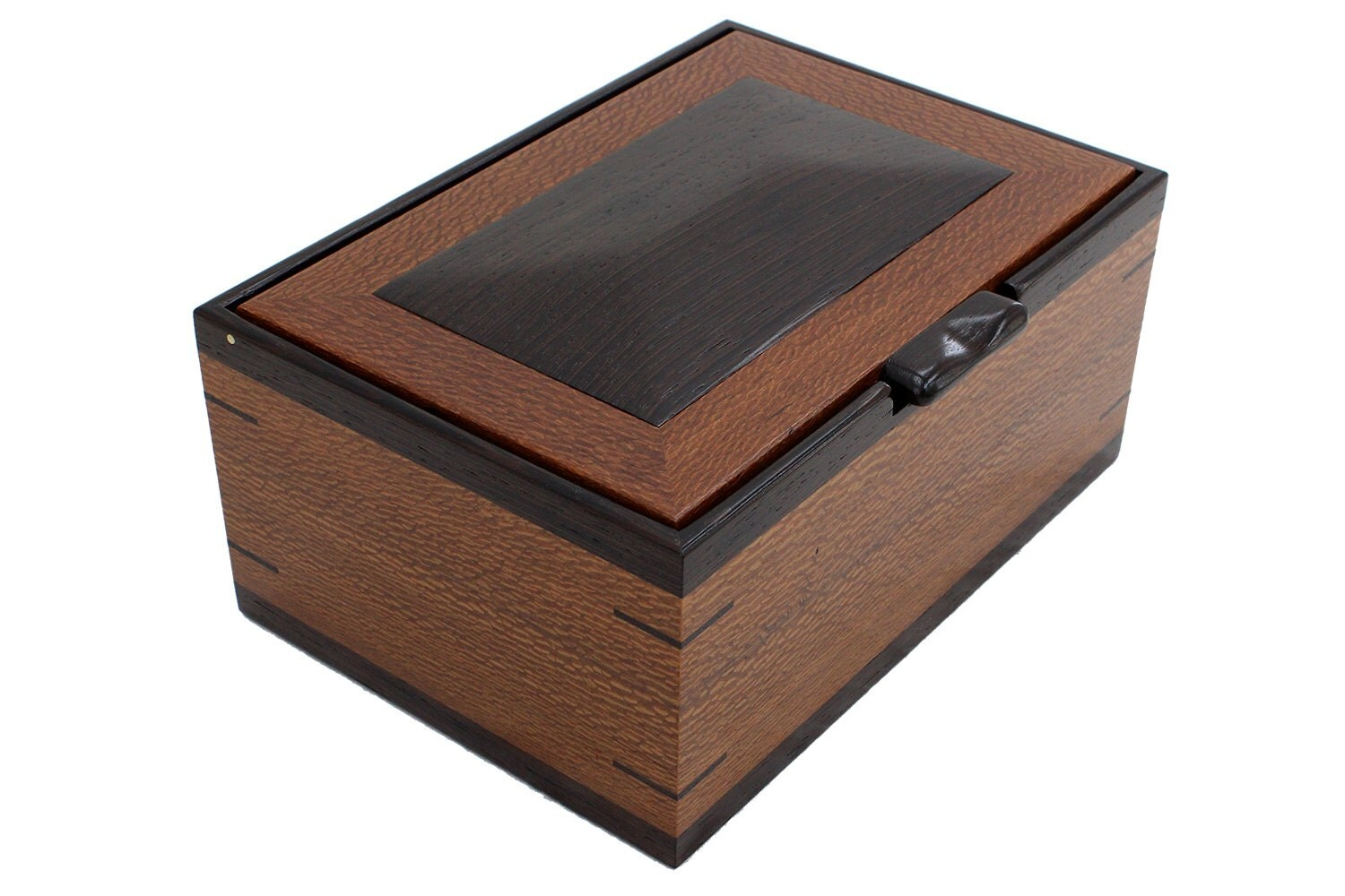Mens valet watch box solid wood for Men s valet box