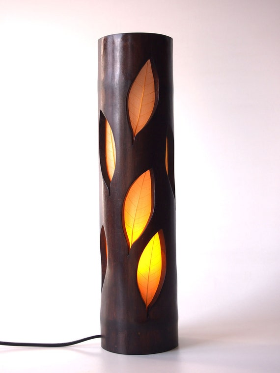 Wood Lamp Bedside Girlfriend Gift Unique Table