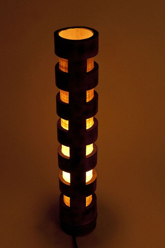 Wooden Lamp Bamboo Light Vintage Lamp Mens Gift Bedroom