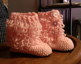 Booties for infants, toddlers, and young children