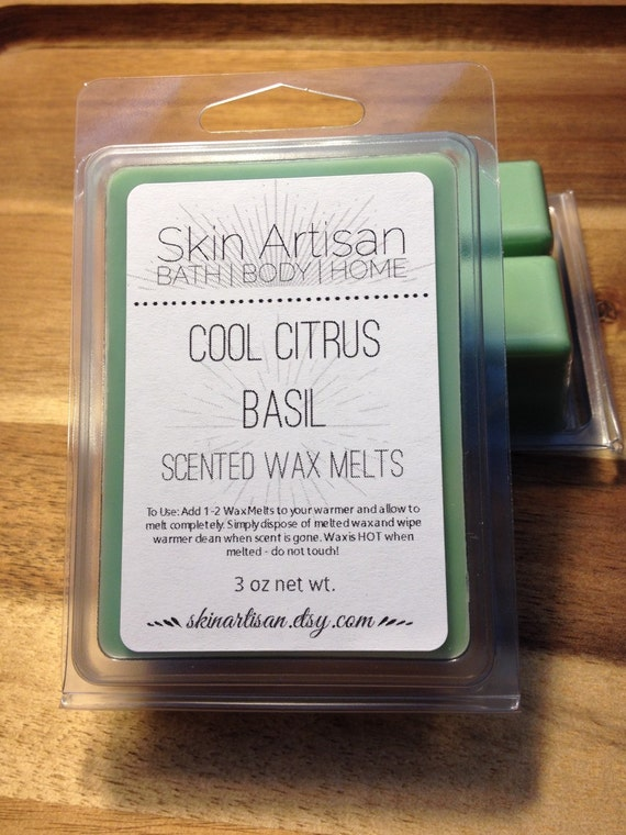 Cool Citrus Basil Hand Poured Wax Melts Fragrance by SkinArtisan