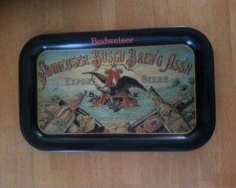 Budweiser tray, replica of rare anheuser busch wallhanging