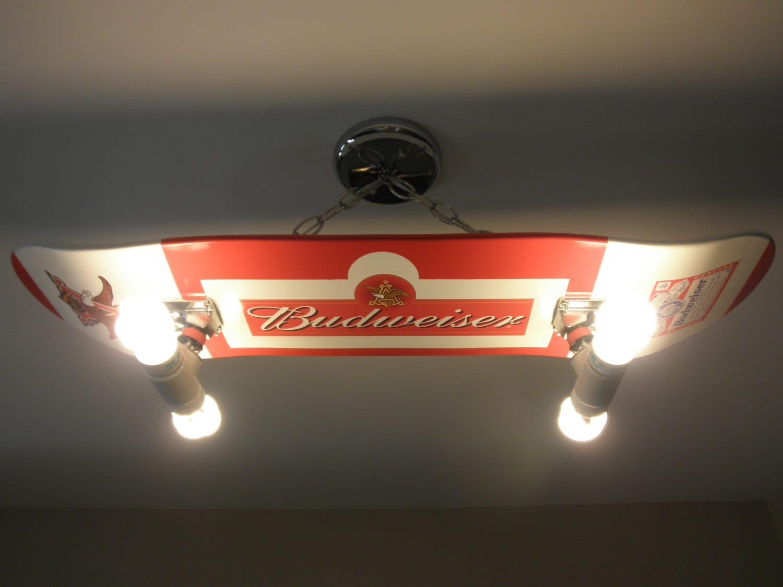 Custom Hanging Budweiser Beer Skateboard Light By