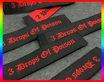 1200 Woven Labels - YOUR OWN ARTWORK - Up to 8 Colors