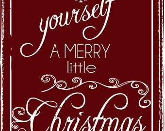 Merry Little Christmas Metal Sign, Holiday Decor, 20344