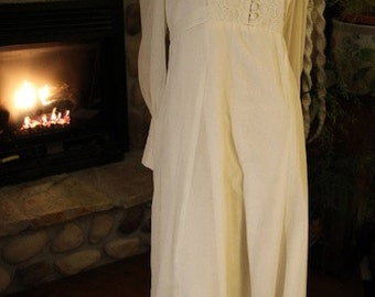 1970's Flower Child Hippie Boho Wedding Dress