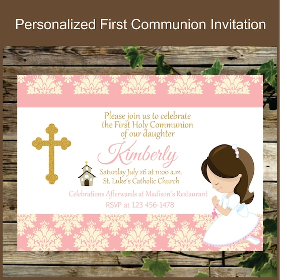 Terrible image inside printable first communion invites