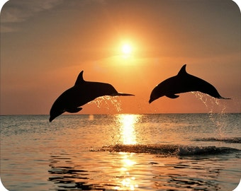 MOUSE PAD - * Sunset Dolphins * Computer Mousepad NEW mat mouse pad