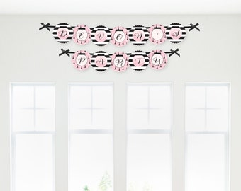 Paris Garland Banner - Custom Baby Shower or Birthday Party Decorations