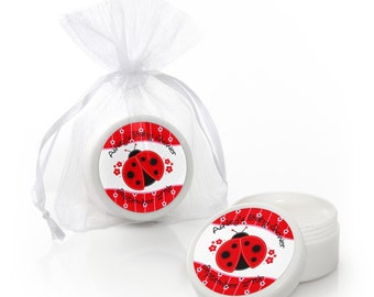 12 Ladybug Lip Balm Party Favors - Baby Shower and Birthday Party Supplies - 12 Count