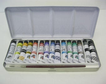 Ferrario Water Colour Paint Set 15 Tubes Tintoretto 7.5ml   Made in Italy